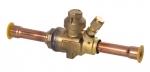 Шаровый запорный вентиль с сервисным штуцером Becool BC-BVа-12