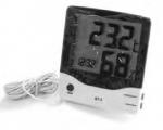 Электронный термогигрометр–часы с большим дисплеем BT-2