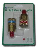 Быстросъёмные муфты высокого и низкого давления с вентилем для заправки А/С BC-12